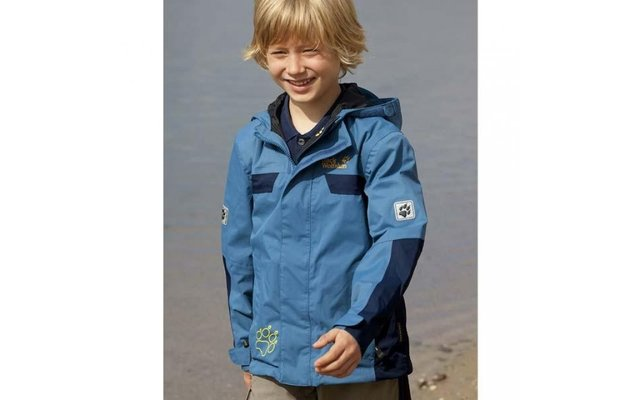 super popular f78d2 3befb Jack Wolfskin Kinder-Funktionsjacke Topaz blau